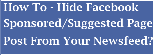 hide sponsored page post newsfeed