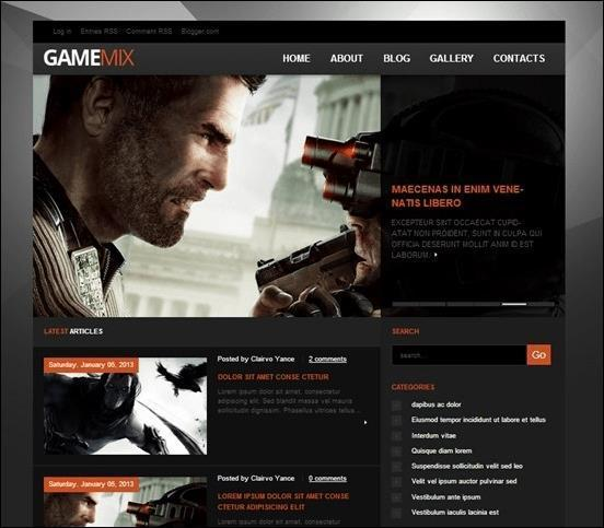 GameMix-Blogger-Template