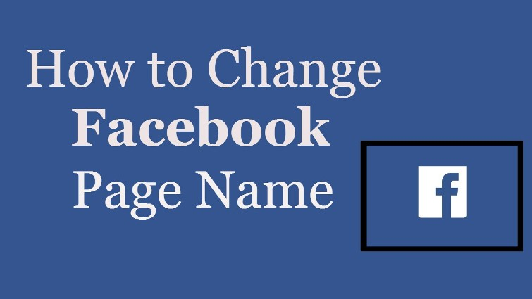 chnage facebook page name