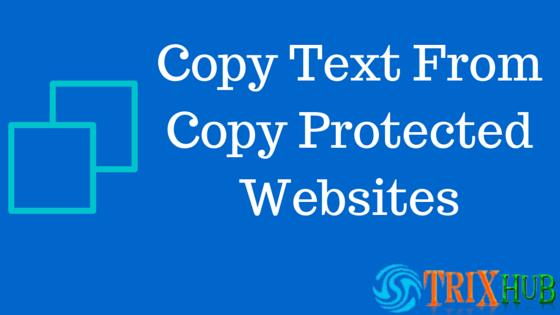 Copy From Copy Protected Websites